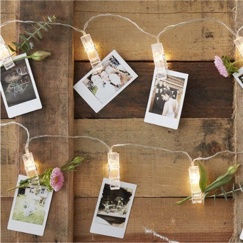 Rustic Country Peg LED String Lights (each)